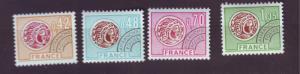 J20179  jlstamps 1975 france mh set #1421-4 gallic coins