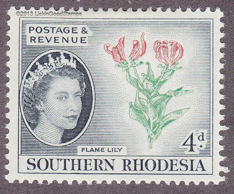 Southern Rhodesia 85 Flame Lily 1953