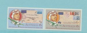 Australia Scott #890 To 891, Mint Never Hinged MNH, Anniversary of Air Mail S...