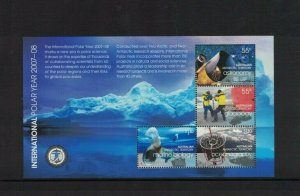 AAT101) Australian Antarctic Territory 2008 International Polar Year M/Sheet MUH