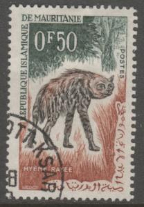 Mauritania 134 Striped Hyena 1963