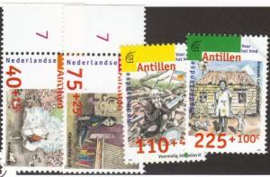 Neth. Antilles #B313-16 MNH - 1 tiny flaw