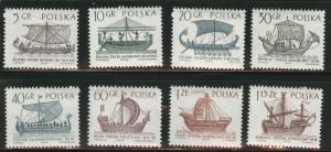 Poland Scott 1299-1306 MNH** 1965 Tall Ship stamp set