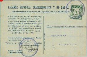85328 - SPAIN - Postal History - REVENUE official service STAMP on PROPAGANDA