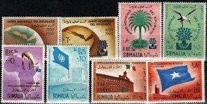Somalia #239-41, C67, 243-4, C70-1 F-VF Unused CV $6.55 (X8503)