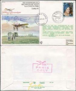FF29c 1st Aeroplane flight from London - Paris Signed by A.K. Gatward (A)