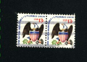 USA #1596  2  used  pair 1975-81 PD .12