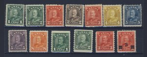 13x Canada Arch Series Stamps #163-164-165-166-167-168-169-170-173 + GV = $70.00