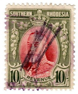(I.B) Southern Rhodesia Revenue : Duty Stamp 10/-