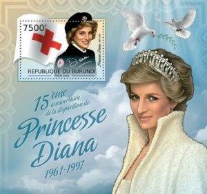 Burundi MNH S/S Princess Diana 2012