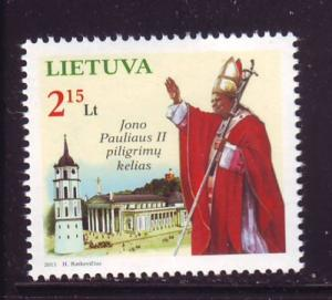 Lithuania Sc 940 2011 Pope John Paul II stamp mint NH
