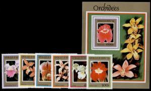 Benin 1127-33 MNH - Flowers, Orchids
