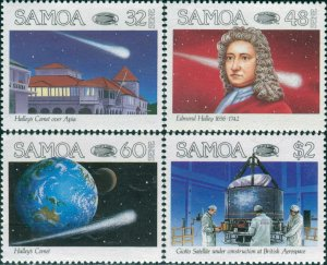 Samoa 1986 SG722-725 Halley's Comet set MNH