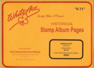 WHITE ACE 2020 Vatican City Singles Album Supplement V-71   NEW!