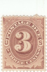 Scott #J3 - 3c Brown -Used - SCV - $6.00