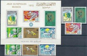 1972 Tunisia Olympics Munich, complete set+Sheet VF/MNH LOOK!