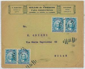 ECUADOR - Postal History : COVER to ITALY