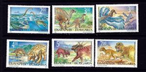 Bulgaria 3817-22 MNH 1994 Dinosaurs