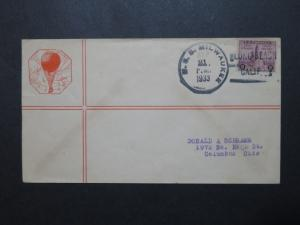 US 1933 USS Milwaukee Stratosphere Balloon Cover  - Z8783
