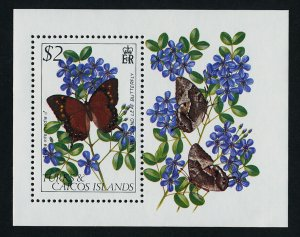 Turks & Caicos 511 MNH Butterfly, Flowers