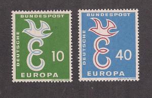 GERMANY SC# 790-1 F-VF OG 1958