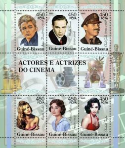 Guinea-Bissau - Actors & Actresses Stamp Sheet GB5312a