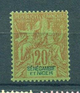 Senegambia & Niger sc# 7 mh cat value $12.50