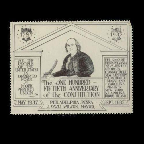 US 1937 Constitution Sesquicentennial Poster Stamp
