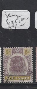MALAYA SELANGOR (P0609B)  TIGER 5C  SG 55   VFU