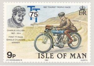 Isle of Man # 214-218, Motorcycle Races, Maxi Cards, Mint Unused