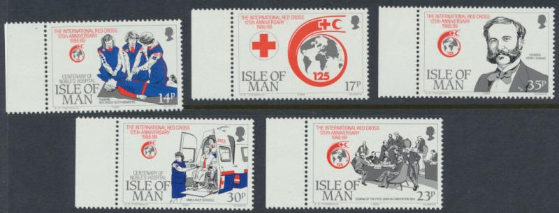 Isle of Man - SG 424-428 SC# 403-407  MUH Red Cross