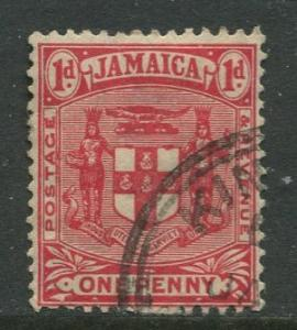 Jamaica -Scott 59 - Arms of Jamaica - 1906 - Used - Single 1p Stamp