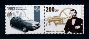[76883] Guinea 2002 Inventor Engine Otto Classic Car Volkswagen VW 1992  MNH