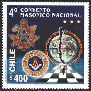 Chile. 2000. 1949. 4 Congress of Masons. MNH.