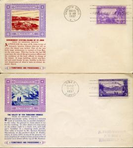 #800 & #802 FIRST DAY COVER CACHET BY LAIRD BN2973