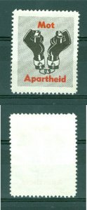 Sweden. Poster Stamp +_1960.  Fight Apartheid Hands,Handcuff.