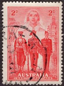 Australia 185 - Used - 2c Nurse / Soldiers / WW2 (1940) (cv $1.90) (3)
