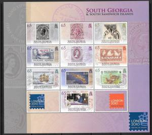 S.GEORGIA&S.SANDWICH SG492a 2010 LONDON 10 MNH