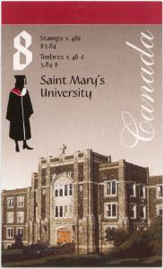 Canada USC #BK258b 2002 Complete Booklet Saint Mary's Univ. Open Cover - VF-NH