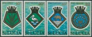 St Lucia 1976 SG434-437 Royal Navy Crests set MNH