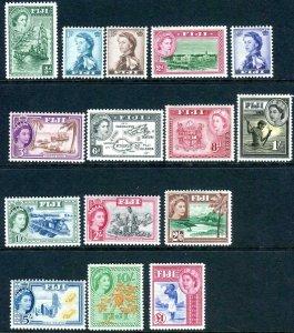 FIJI-1954-1959 MOUNTED MINT SET to £1 Sg 280-295 V42756
