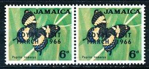 Jamaica #249 Horiz Pair MNH