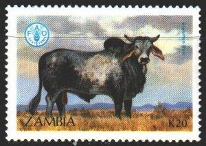 Zambia. 1987. 432 from the series. Pets, zebu. MLH.