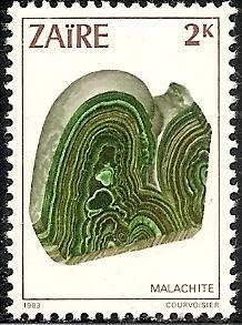 ZAIRE 1102 MNH 1983 2k MALACHITE
