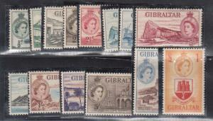 Gibraltar #132 - #145 VF/NH Set