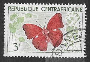 Central African Republic Scott #7 3fr Butterfly (1961) CTO H