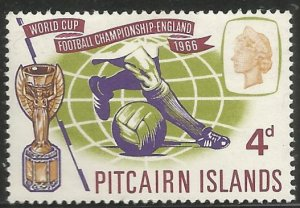 PITCAIRN ISLANDS 4 HINGED, WORLD CUP SOCCER