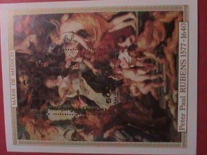 CENTRAL AFRICAN:  1978- PAINTING  FROM PETER PAUL RUBENS S/S-CTO-NH-SHEET