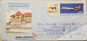 O) 1985 SRI LANKA, TRAGULUS DEER, TEMPLE  OF THE TOOH KANDY. ARCHITECTURE . HERI