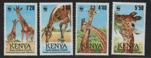 $Kenya Sc#491-494 M/NH/VF, complete set, WWF, Cv. $21